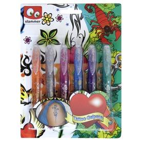 Tetováló filctoll 6 darabos készlet