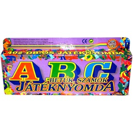 ABC játéknyomda betűkkel és számokkal
