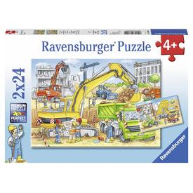 Puzzle 2x24 db - Az építkezésen