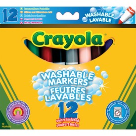 Crayola: 12 darabos lemosható vastag filctoll
