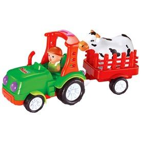 Elemes bébi traktor utánfutóval