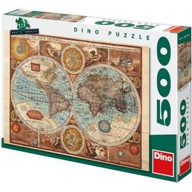 Világtérkép 1626-ból 500 darabos puzzle
