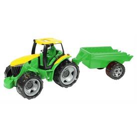 Óriás traktor utánfutóval - zöld, 94 cm