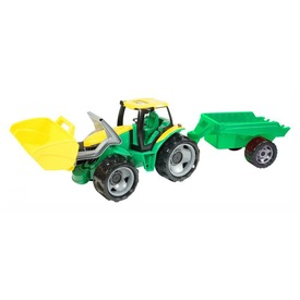 Óriás markolós traktor utánfutóval - 62 cm