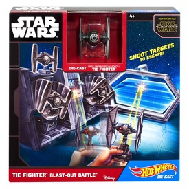 Hot Wheels Star Wars TIE Fighter csata készlet