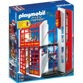 Playmobil Tűzoltó parancsnokság riasztóval 5361