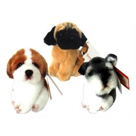 Kutya ülő plüssfigura - 13 cm, többféle