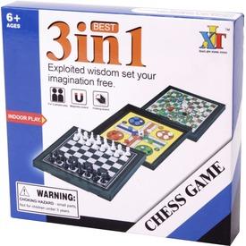 3IN1 mágneses őti társasjáték (sakk, ki nevet a végén, létrák és kígyók) Itt egy ajánlat található, a bővebben gombra kattintva, további információkat talál a termékről.