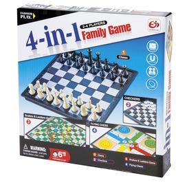 4IN1 társasjáték (sakk, dáma, ki nevet a végén, létrák és kígyók) Itt egy ajánlat található, a bővebben gombra kattintva, további információkat talál a termékről.