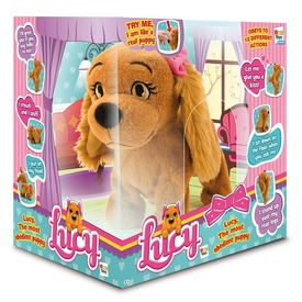 Lucy az interaktív kutya plüssfigura
