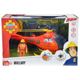 Tűzoltó Sam Wallaby helikopter Thomas figurával