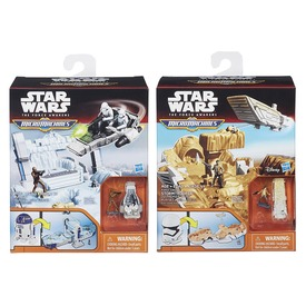 Star Wars: mini akciófigura járművel - többféle