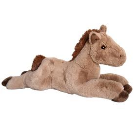 Ló fekvő plüssfigura - barna, 46 cm
