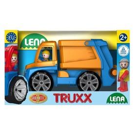 Műanyag kukás autó - 28 cm