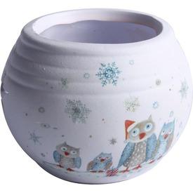 Kerámia gömb mécsestartó kékbagoly  Itt egy ajánlat található, a bővebben gombra kattintva, további információkat talál a termékről.