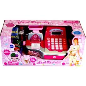 Elemes pénztárgép - rózsaszín-ezüst