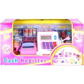 Fehér-rózsaszín játék pénztárgép 30 cm Itt egy ajánlat található, a bővebben gombra kattintva, további információkat talál a termékről.