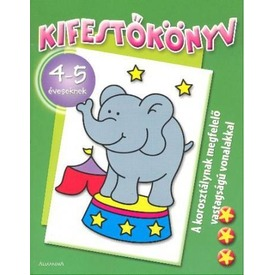 Elefántos kifestőkönyv