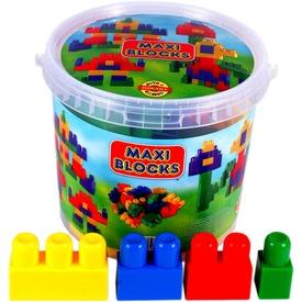 Maxi Block vördös építőkocka készlet - nagy