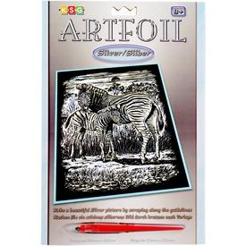 Zebrák ezüst képkarcoló