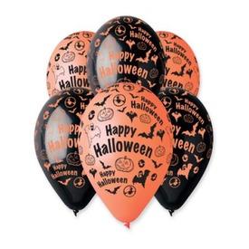 Mintás halloween lufi 10 darabos készlet - 30 cm