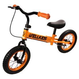 Fém futóbicikli fékkel - narancssárga-fekete