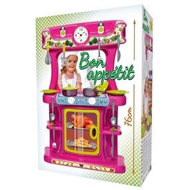Játékkonyha - rózsaszín, 76 cm