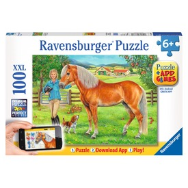 Puzzle 100 db - Kedvenc lovaim +App