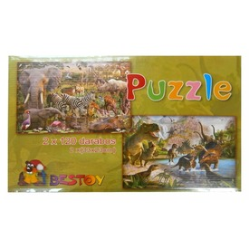 Puzzle 2x120-as Térkép /Vadállat kirakó  Itt egy ajánlat található, a bővebben gombra kattintva, további információkat talál a termékről.