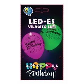 Happy Birthday LED lufi 5 darabos készlet