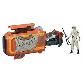 Star Wars: akciófigura járművel - 10 cm, többféle