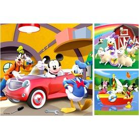 Mikiegér klubháza 3 x 49 darabos puzzle