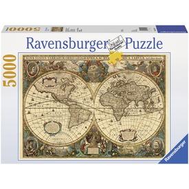 Antik világtérkép 5000 darabos puzzle