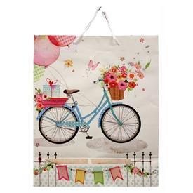Papírtasak bicikli virággal 23x18cm  Itt egy ajánlat található, a bővebben gombra kattintva, további információkat talál a termékről.