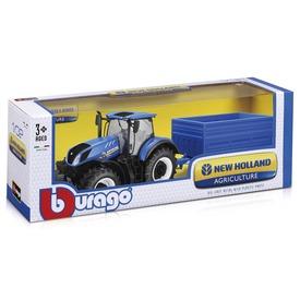 Bburago traktor utánfutóval New Holland 1:32