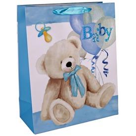Papírtasak baby maci kék 2632