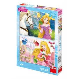 Disney hercegnők portré 2 x 66 darabos puzzle