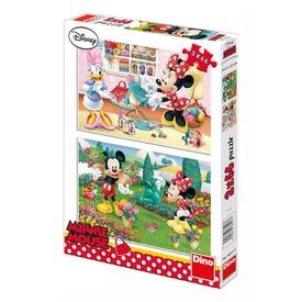 Minnie egér alkot 2 x 66 darabos puzzle