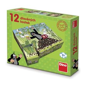Kisvakond és barátai 12 darabos fa mesekocka