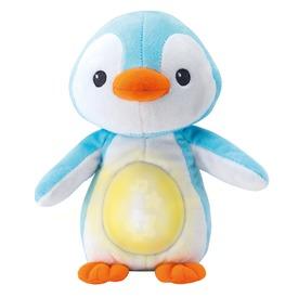 Pingvin zenélő-altató plüss bébijáték