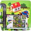 kép nagyítása Nagyváros habszivacs 9 darabos puzzle - 30 x 30 cm