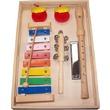 kép nagyítása Fa hangszer készlet furulyával, xilofonnal