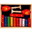 Fa hangszer készlet szájharmónikával