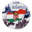 kép nagyítása Budapest hűtőmágnes - többféle