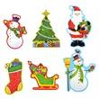 kép nagyítása Karácsonyi dekoráció 6 darabos készlet