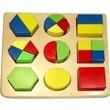 kép nagyítása Színes fa formaválogató játék