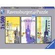 kép nagyítása Világvárosok 3 x 500 darabos puzzle