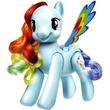 kép nagyítása Én kicsi pónim: ugráló és pörgő Rainbow Dash póni