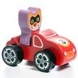 kép nagyítása Fa autó cica sofőrrel - piros