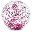 kép nagyítása Átlátszó csillámos strandlabda - 71 cm, többféle
